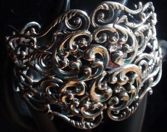 Danecraft Sterling Wide Cuff Bracelet