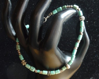 """Desert Heart Turquoise 9"""" Anklet"""