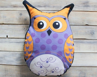 READY TO SHIP!  Violet Owl pillow toy