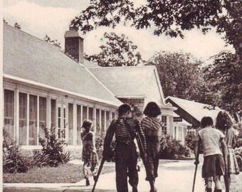 2 Vintage Easter Seals Camp Wawbeek, Wisconsin Dells, Wisconsin.  Unused Post Cards