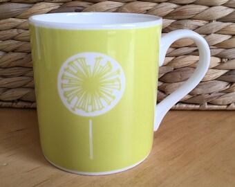 Dandelion Mug - Two Colours, Bone China Mug, Midi Mug, Tea Cup, Coffee Mug, Wedding Gift, Housewarming Gift, Gift For Her, Made In UK