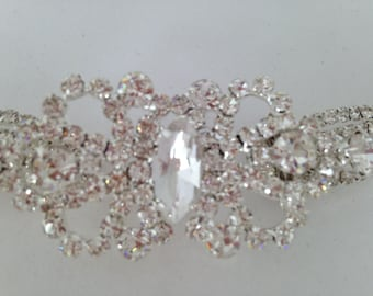 Wedding dress accessory bridal bride crystal belt sash with buckle sparkly rhinestones bling