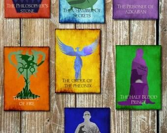 Set Of 7 Harry Potter Inspired Movie Prints