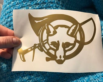 Classic Fox Hunting Vinyl Decal - Choose Your Color