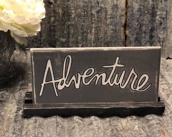 Adventure wood plaque