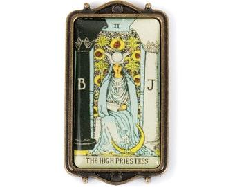 Tarot Card Pendant - The High Priestess (STEAM206)