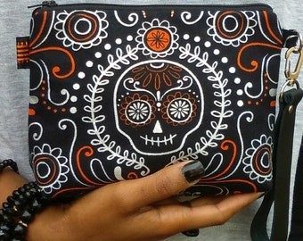 Day of the Dead Wristlet