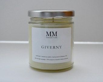 GIVERNY // natural soy candle // hand-poured // small batch
