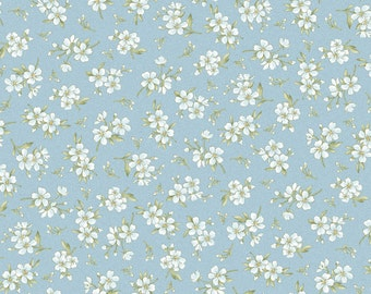 Gentle Breeze Baby's Breath by Jan Douglas  8517M-B flowers, floral, quilting, cotton, maywood studios, fabric, metre, yard