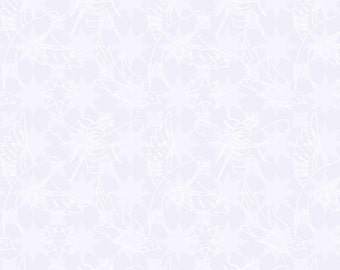 Seventy-Six by Alison Glass Flourish in Snow A-8446-C cotton fabric andover modern material quilting supplies white