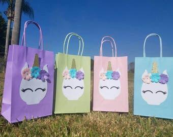 12 unicorn party favor bags
