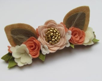 Floral Headband Woodland Flower crown First Birthday Photo props (Oh!!! Deer)