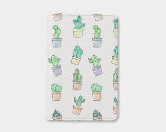 Women's Day Cactus passport holder,cute passport holder,leather passport cover,personalized passport cover,gift for her,birthday gift
