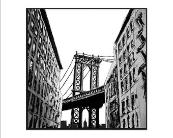 Manhattan Bridge black and white