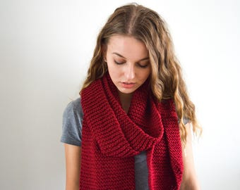 MADE TO ORDER   The Hayley Scarf   Knitted Scarf