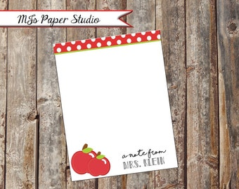 Personalized Teacher Notepad; Teacher Notepad