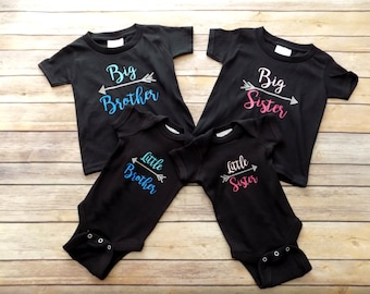 Big Brother Shirt - Big Sister Shirt - Little Brother Bodysuit - Little Sister Bodysuit- Middle Brother Shirt- Middle Sister Shirt -
