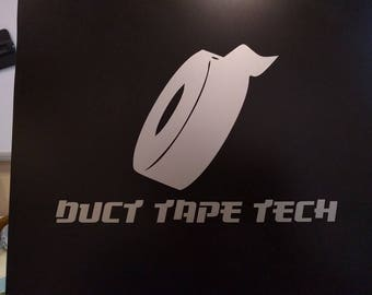 Duct Tape Tech Decal Sticker