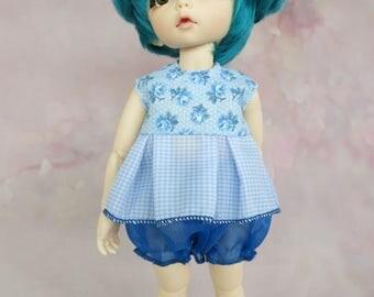 Bjd Yosd, Littlefee - Blue Flower dress