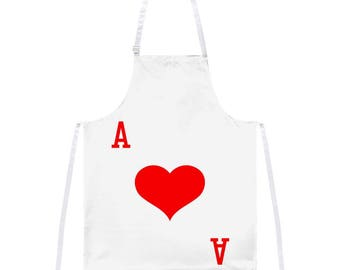 Halloween Ace of Hearts Card Soldier Costume All Over Apron