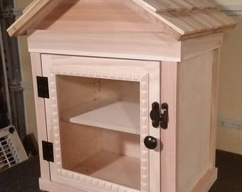 Outdoor Neighborhood Library - Unfinished - Cedar shake roof, eaves and frame