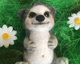 Needle felted Forest friend- Hedgehog Tima