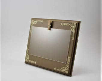 clip picture frame 4 x 6 picture frame brown picture frame small picture frame custom picture frame brown cream picture frame wood frame