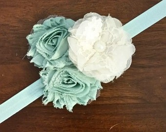 Shabby chic infant/toddler headband
