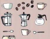Coffee Print, Coffee Lovers Gift, Coffee Art Print, Kitchen Wall Art, Kitchen Art, Kitchen Wall Decor, Home Decor Wall Art, Art Print