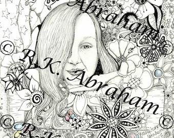 Deaf American Girl 8x10 Coloring Page Cardstock