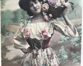 Victorian Women Photographs * Set of 2 French postcards