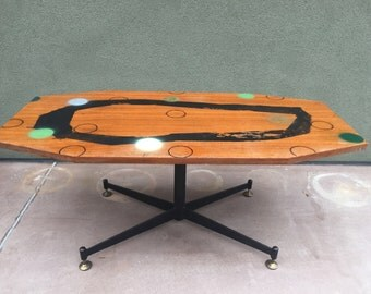 Coffee table teak years 50/60