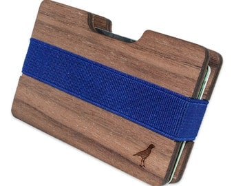 Crow Slim Minimalist Wooden Wallet. Handmade And Laser Engraved. Made in the USA.