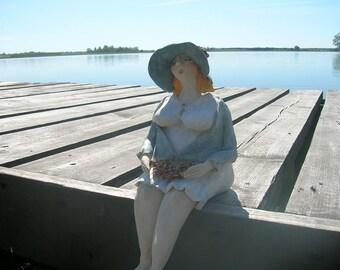home decor, statues, ceramic woman, figurative sculpture, ceramic figurine, ceramic art, ceramic and pottery