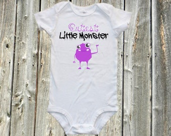 Cutest little monster - funny baby bodysuit,  one-piece shirt