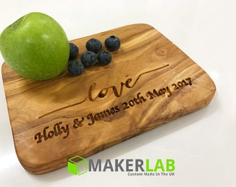 Personalised Olive Wood Cutting or Chopping Board