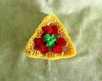 Coasters, Rainbow loom, loom coasters, triangle, yellow, triangle, handmade, OOAK, handmade, unique