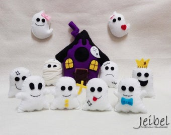 Ghost Party, halloween, ornaments, keychains, magnent