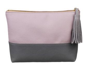 Makeup bag, wedding gift, travel bag, toiletry bag, cosmetic bag, leatherette  makeup bag, leathere toiletry bag, leather travel bag