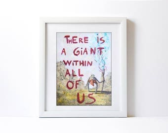 Quote Painting, Contemporary Art, Original Artwork, Office Decor, Wall Art, Beautiful Art, Painting, Acrylic, Character Painting, Home Decor