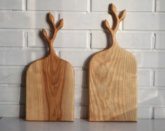 Wooden cutting and serving board