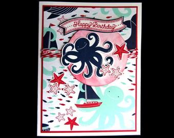 Bright Octopus Birthday Card