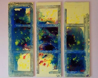 Window, Original abstract art painting