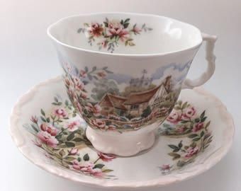 Royal Albert Bone China Tea Cup and Saucer - Summer from the Cottage Garden Year Series 1984