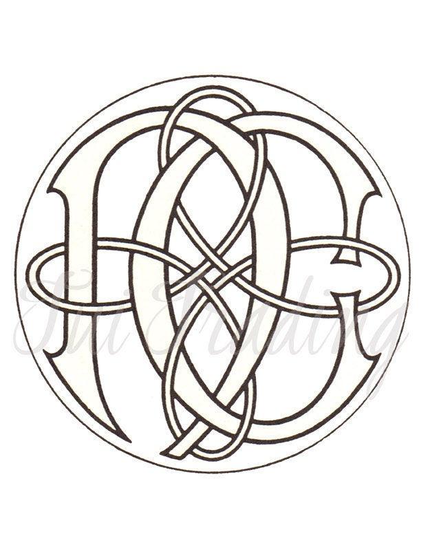 Svg monogram cn nc digital letters initials