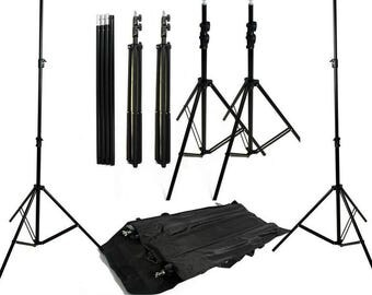 Full Size Background support stand 8' x 10 feet,  wide footprint for stability