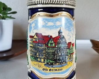 Vintage Corzelius Old Germany Ceramic Beer Stein/Tankard/Mug