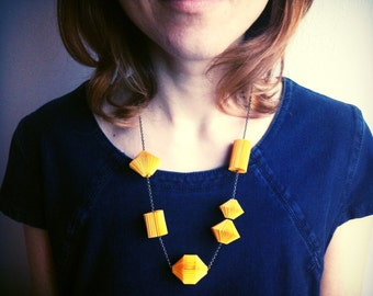Origami paper necklace necklace paper design
