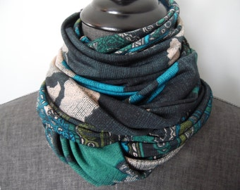 INFINITY Scarf. ITY Knit Black.Aqua.Green.Black.Charcoal.Rust.Gift.Her.Daughter.Sister.Aunt.Grandma.Friend.Product ID# SC0051