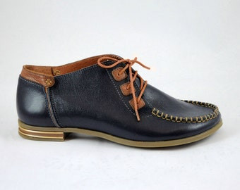 Moccasin, Womens shoes, Leather shoes, Blue Shoes, Stylish shoes
